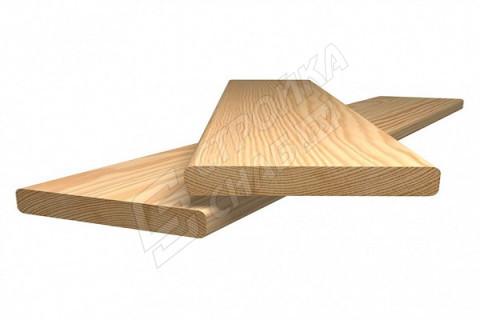 Планкен прямой (лиственница) 20 мм * 90 мм сорт AB
